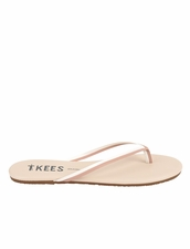 Tkees Duos in Bare White Sandals