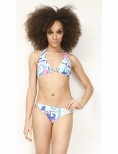 Trina Turk Swimwear Mirage Halter Top and Buckle Side Hipster Bottom Bikini More Styles Available Inside