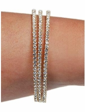 Triple Mini Rhinestone Wrap Bracelet in Gold by Funky Junque at Pesca Trend