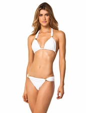 ViX  Swimwear Bia Logo in White