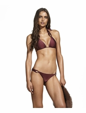Vix Swimwear Burgundy Thai Triangle Bikini Top & Thai Bottom