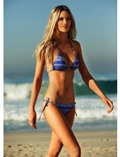 Vix Swimwear Carioca Tri Detail Top & Long Tie Bottom