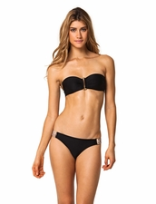 Vix Swimwear Elle Black Bandeau Two Piece Bikini