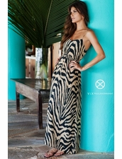 Vix Swimwear Karine Long Dress in Black Cape