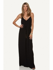 Vix Swimwear Mary Long Dress in Black