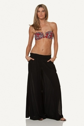 Vix Swimwear Solid Bali Pants in Black **2015 Collection **