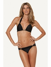 Vix Swimwear Solid Black Bia Top & Bottom