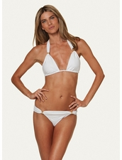 Vix Swimwear Solid WhiteTube Top & Bottom
