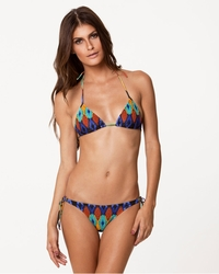 Vix Swimwear Tribal Tri Embroidery Top and Tie Embroidery Bottom Bikini