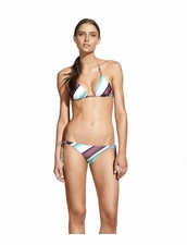 Vix Swimwear Vintage Stripe Triangle Bikini Top and Long Tie Bottom