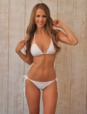 Water Glamour Swimwear Knotted Triangle Top in White