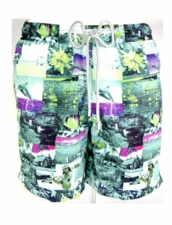 Zeybra Portofino 1962 AUB582 Hawaiian Swim Trunks