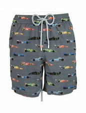 Zeybra Portofino 1962 AUB603 Race Car Swim Trunks