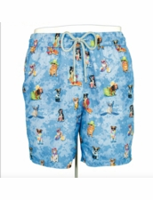 Zeybra Portofino 1962 AUB614 Movie Dogs Swim Trunks