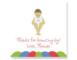 Bouncy House Favor Tags/Set of 9