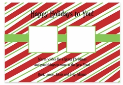 Candy Stripe Photo Squares
