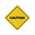 Caution Stickers/Sheet of 20