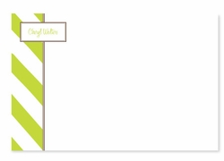 Diagonal Stripes with Nameplate