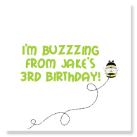 I'm Buzzing Favor Stickers/Sheet of 20