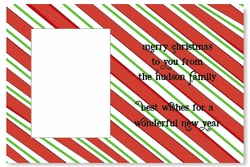 Red Green Candy Stripe Wallet