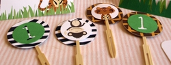 Safari Wild Cupcake Toppers