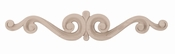 01903515HM1 Carved Madeline Onlay Small Hard Maple
