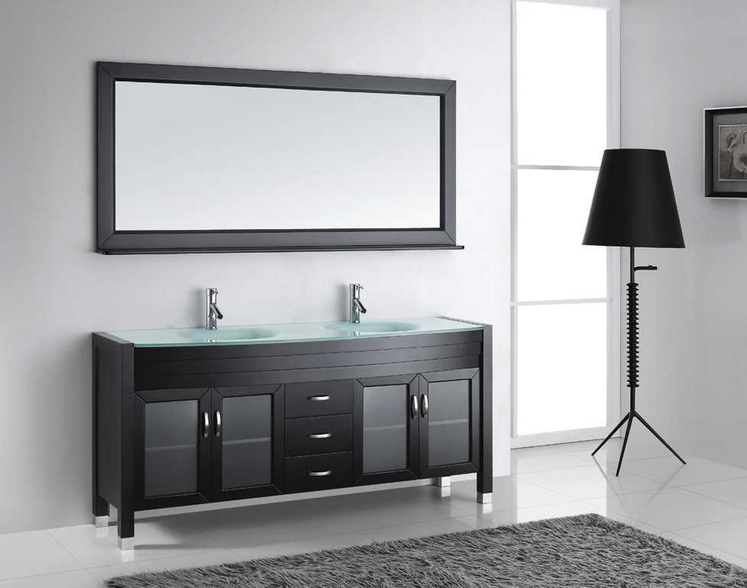 virtu usa ava 71 double bathroom vanity cabinet set in espresso