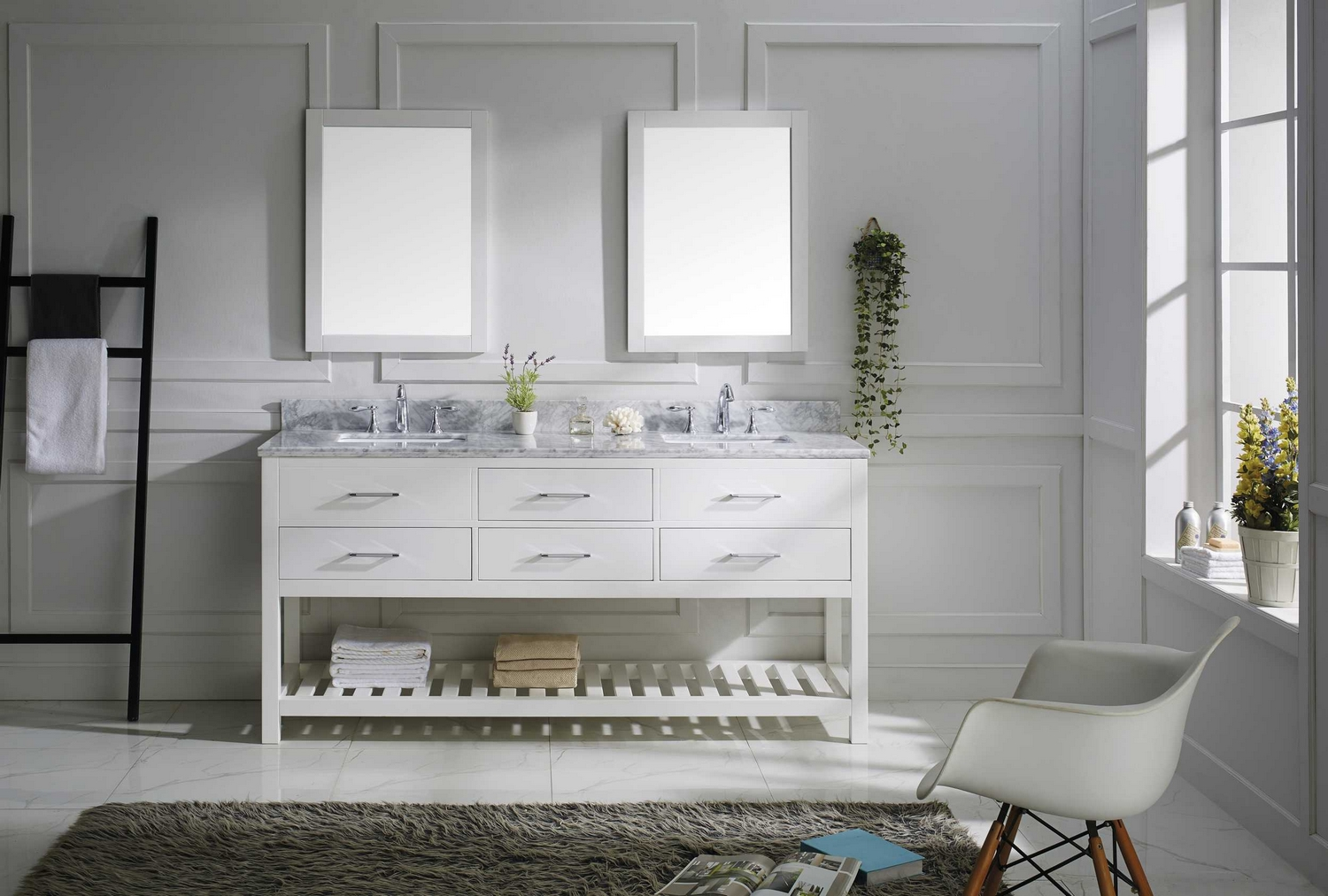 virtu usa caroline estate 72 double bathroom vanity