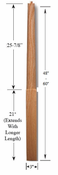 Contemporary Poplar Newel Post