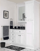 Danbury White Bath Cabinets