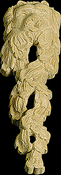 Onlay Moulding Carved Detail Collection LION_LEAF_SM-HM