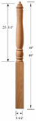 Savannah Poplar Newel Post