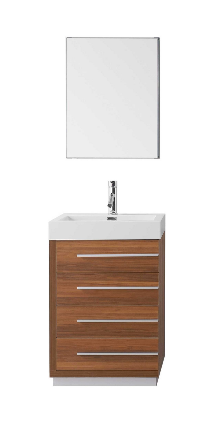 virtu usa bailey 24 single bathroom vanity cabinet set in plum