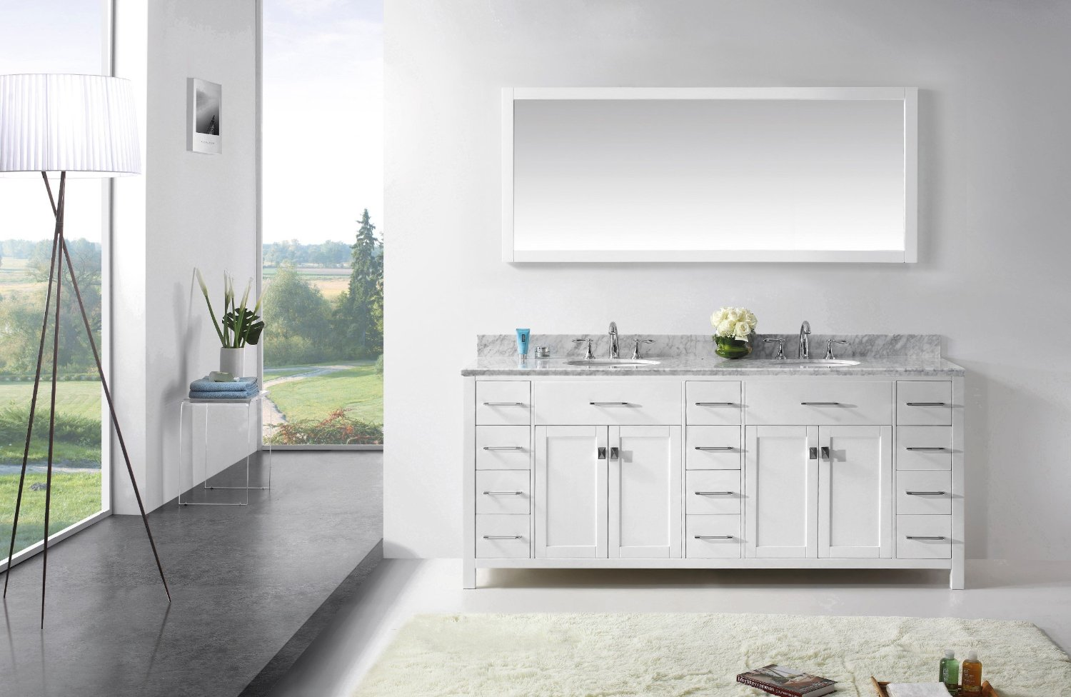 usa caroline parkway 78 bathroom vanity cabinet in white virtu