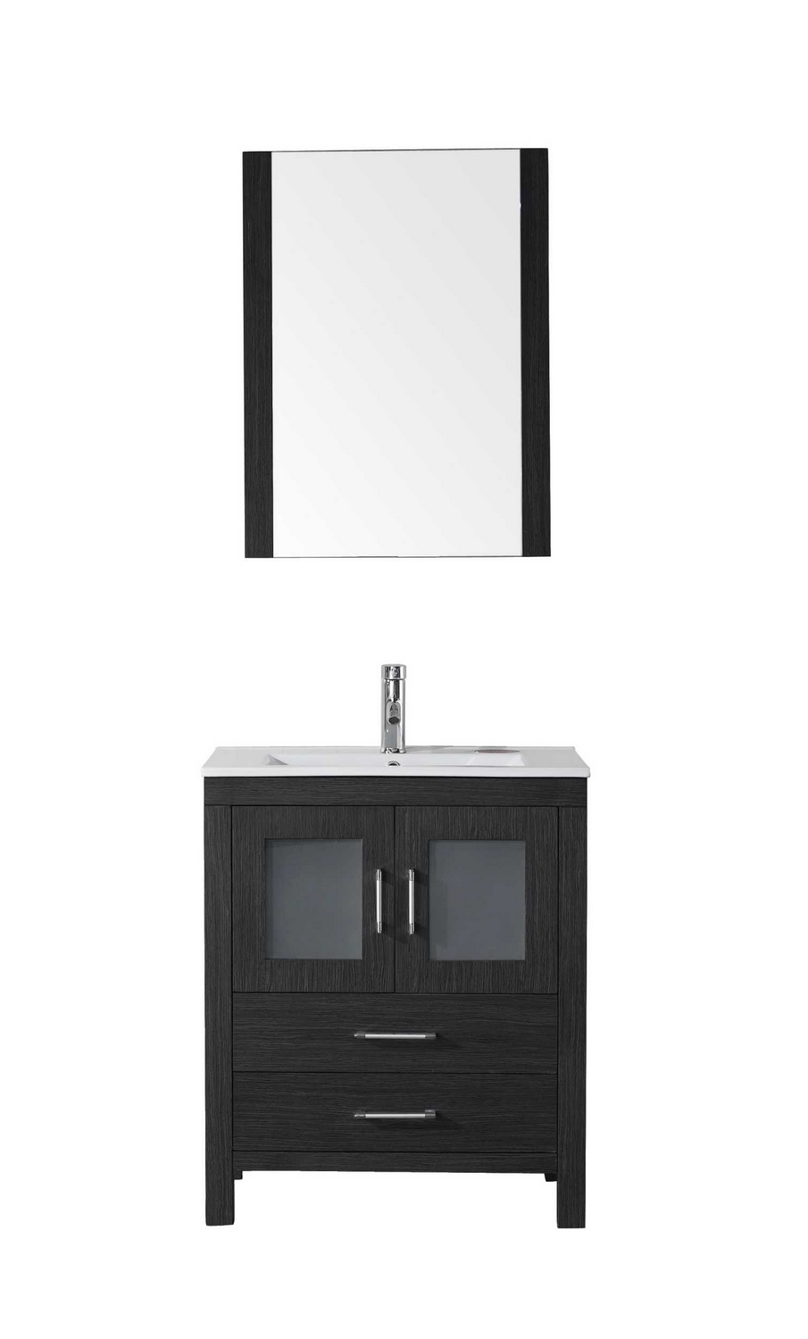 virtu usa dior 28 single bathroom vanity cabinet set in zebra grey