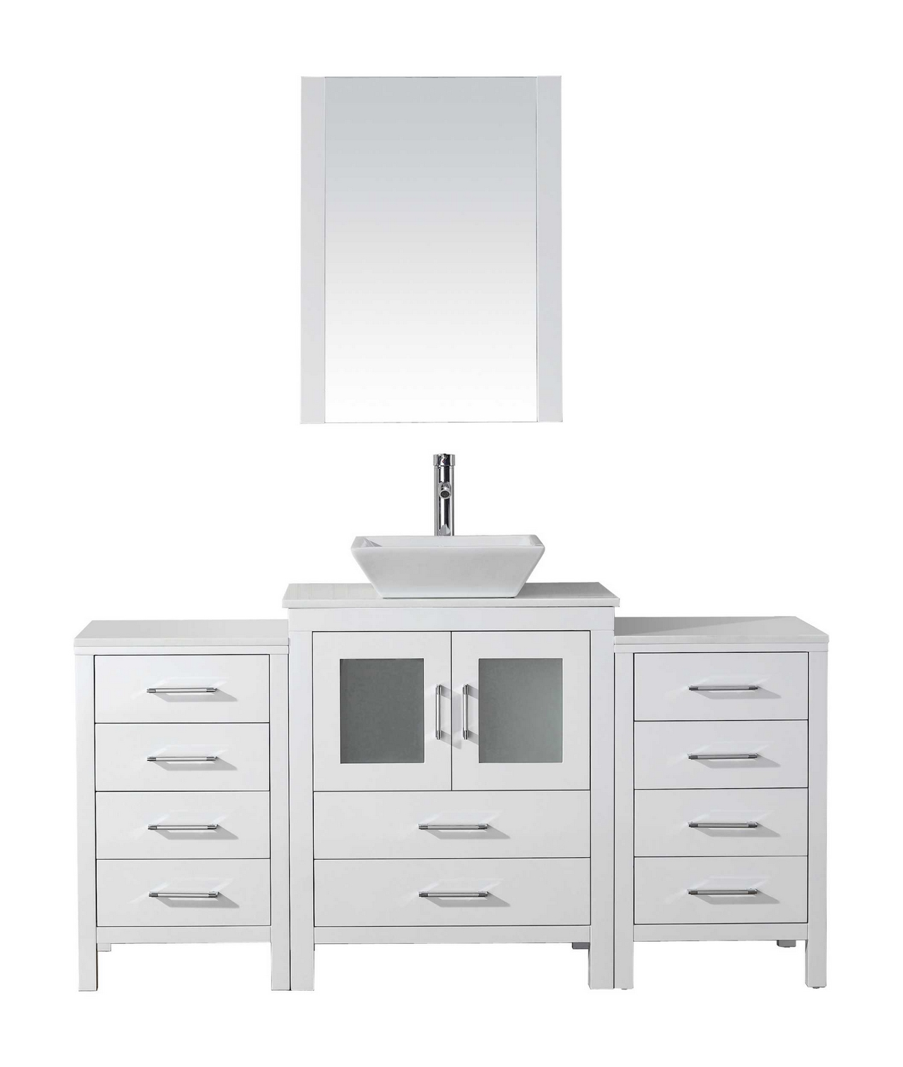 virtu usa dior 64 single bathroom vanity cabinet set in white pure