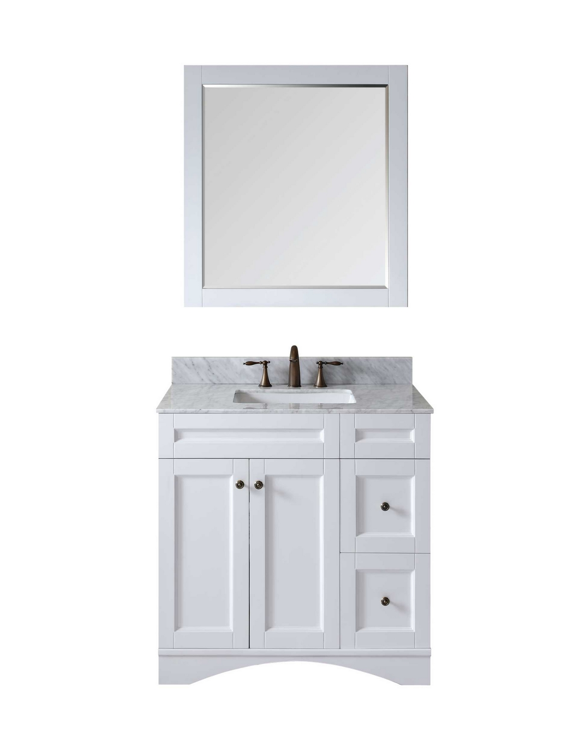 virtu usa elise 36 single bathroom vanity cabinet set in whiteitalian