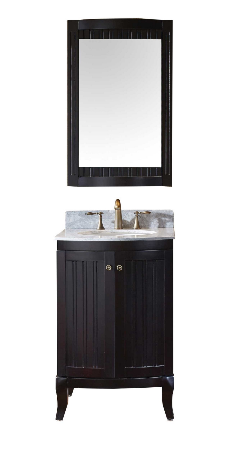 virtu usa khaleesi 24 single bathroom vanity cabinet set in espresso