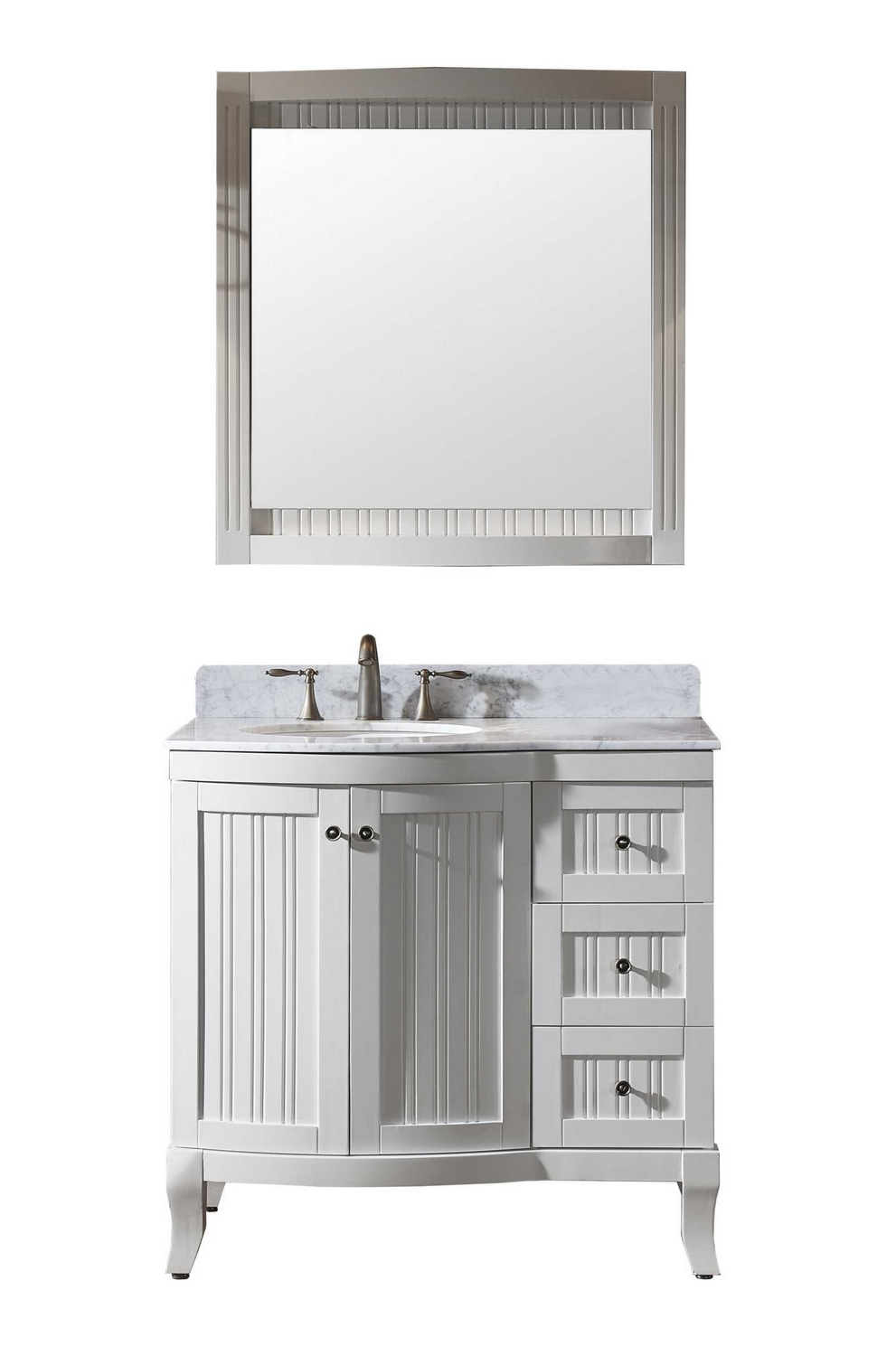 virtu usa khaleesi 36 single bathroom vanity cabinet set in white