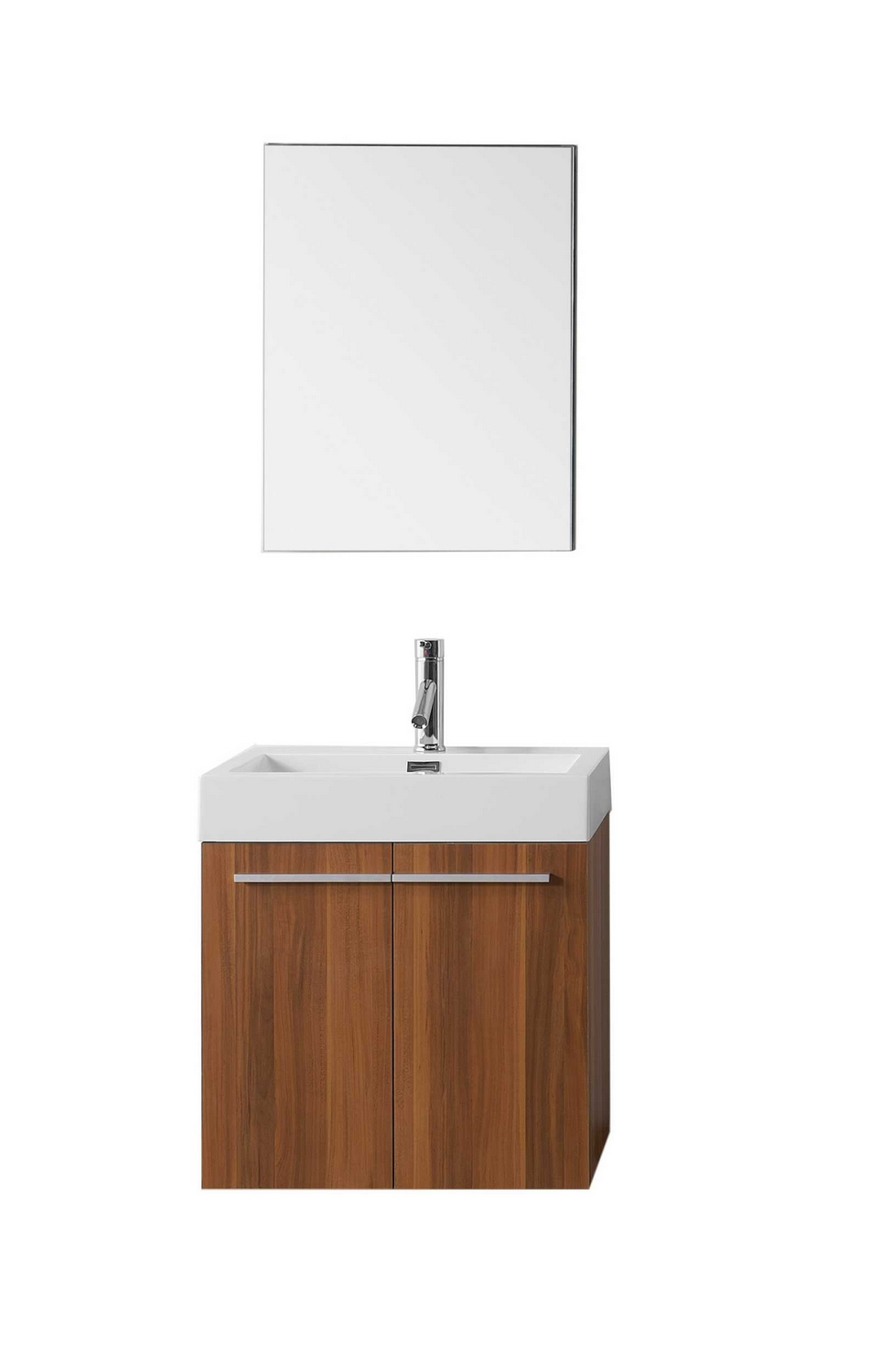 USA Midori 24quot; Single Bathroom Vanity Cabinet Set in Plum Polymarble