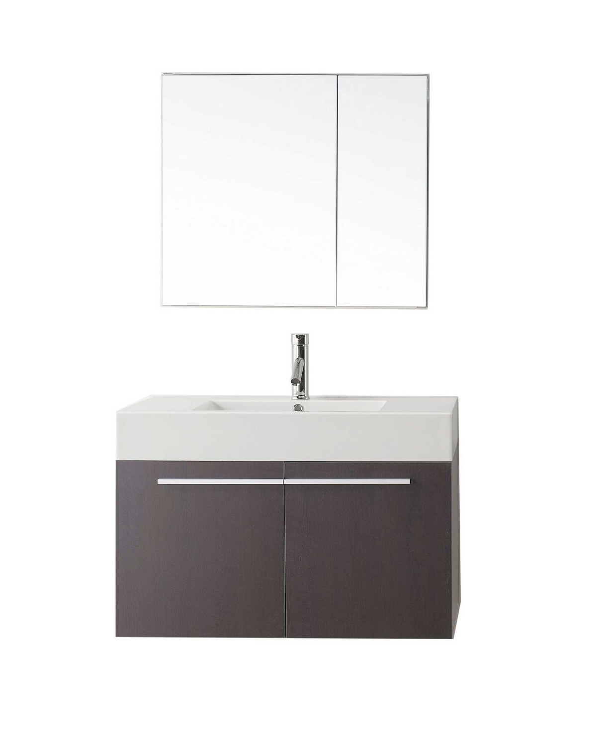 usa midori 36 single bathroom vanity cabinet set in wenge polymarble