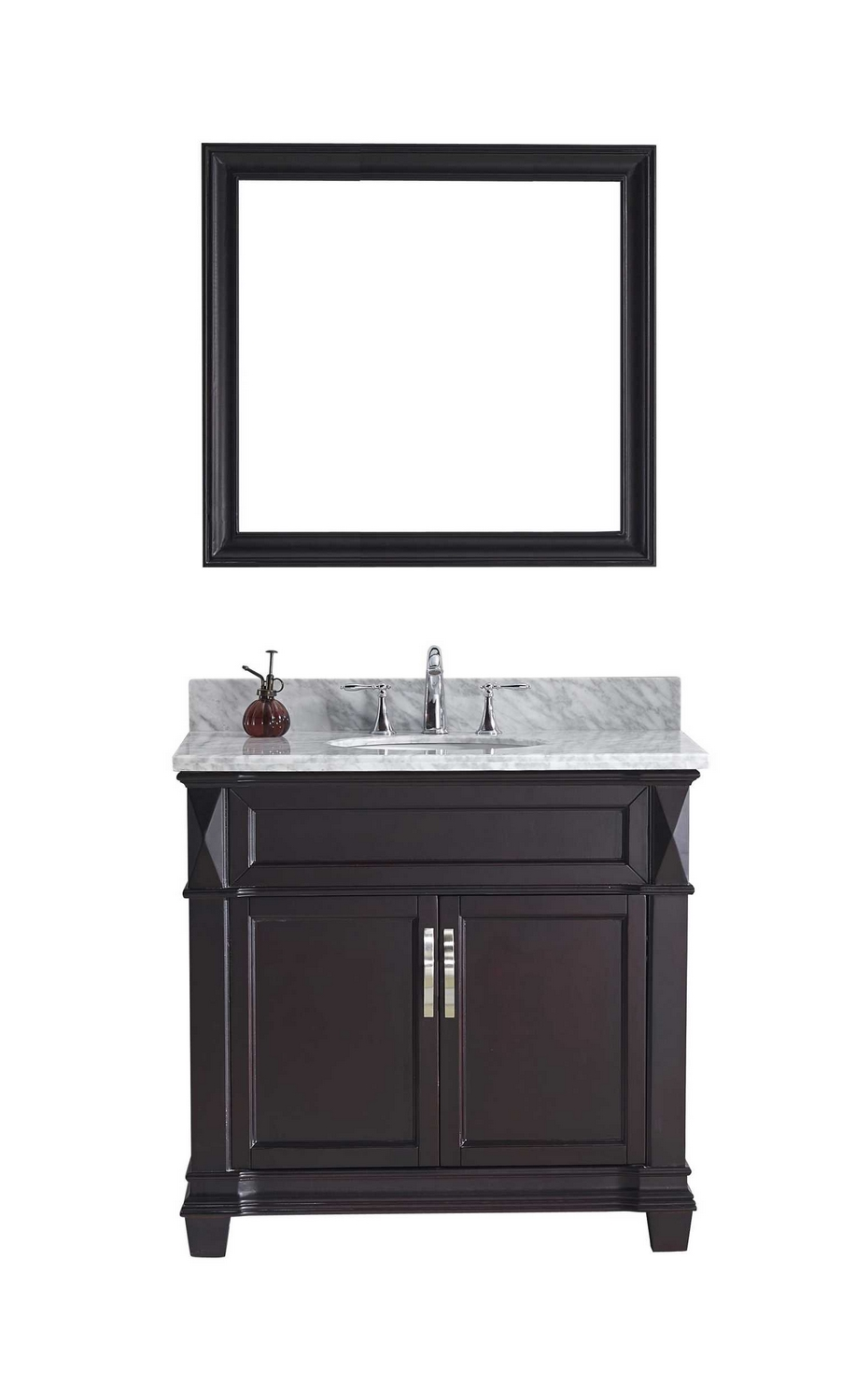 virtu usa victoria 36 single bathroom vanity cabinet set in espresso