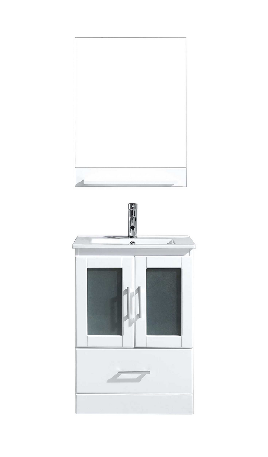 virtu usa zola 24 single bathroom vanity cabinet set in whiteceramic