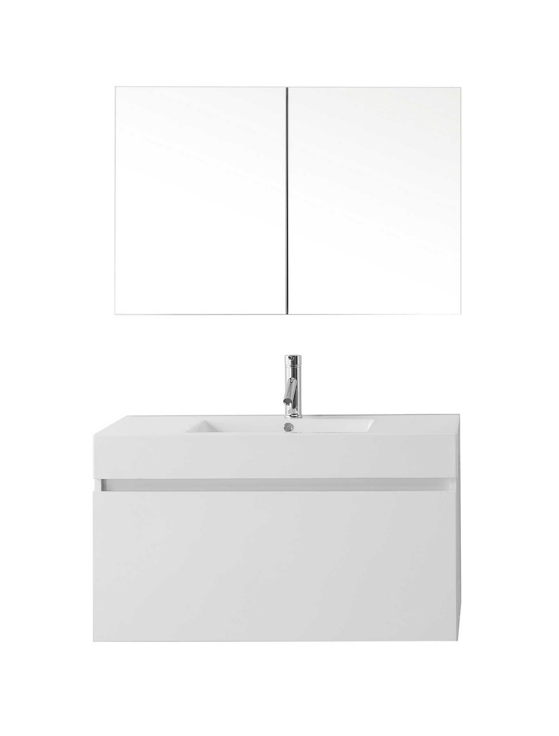 virtu usa zuri 39 single bathroom vanity cabinet set in gloss white