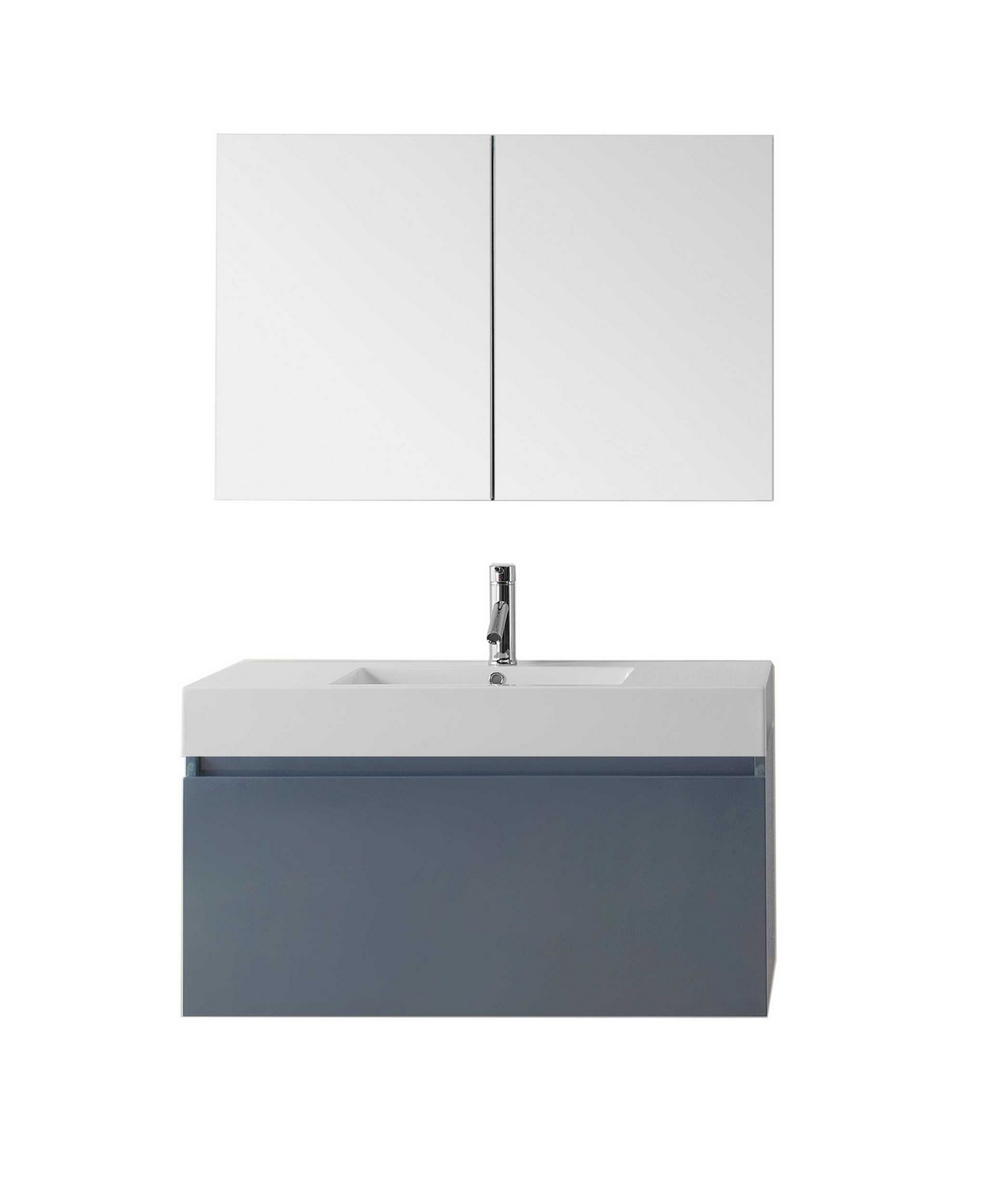 virtu usa zuri 39 single bathroom vanity cabinet set in grey