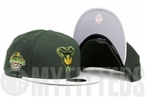 Arizona Diamondbacks 2001 World Series Custom Patch Algae Bloom Sandstone Brass New Era Fitted Cap