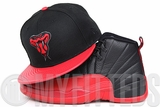 "Arizona Diamondbacks Jet Black Scarlet Faux Pebbled Air Jordan XII ""Flu Game"" Matching New Era Hat"