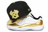"Atlanta Braves Jet Black Metallic Gold Omni Foiled Air Jordan V ""Gold Coin"" Matching New Era Hat"