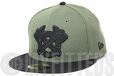 Atlants Braves Army Olive Omni Jet Black Classic Grey Undervisor Custom New Era Fitted Cap