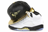 Baltimore Orioles Jet Black Pebbled Faux Leather Omni Foiled Gold Air Jordan V Gold Coin New Era Hat